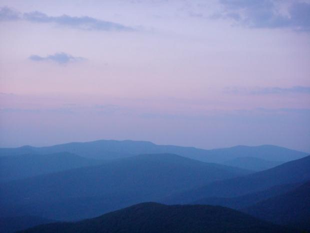 Blueness of the Blue Ridge